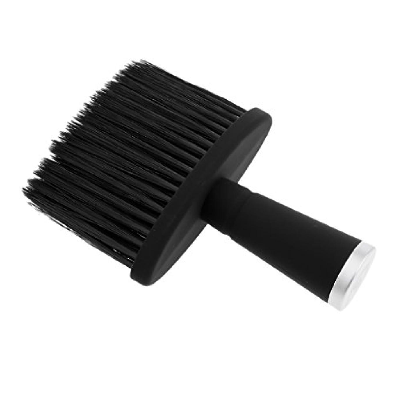 合成吸うレオナルドダPerfk ネックダスターブラシ ヘアカット ヘアブラシ 理髪 便利 合成繊維+プラスチック 全2色 - 銀