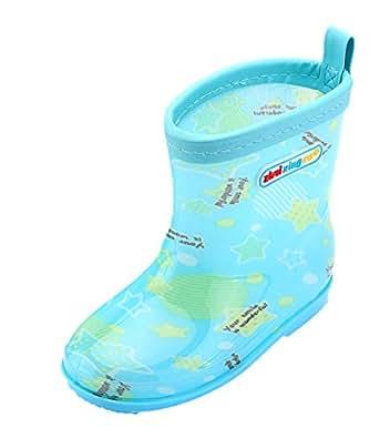 [シープリンセス] 子供靴 雨靴 長靴 レインブーツ レインシューズ キッズ ジュニア 男の子 女の子 幼児 小学生 可愛い 滑り止め 水遊び 梅雨対抗 通園 グリーン 15cm