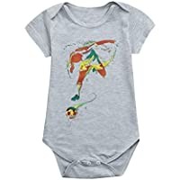 クリアランス!daorokaベビー女の子男の子ロンパース、新生児幼児用ベビーガールズボーイズサッカーフットボールプリントロンパースジャンプスーツ服装 12M ブラック