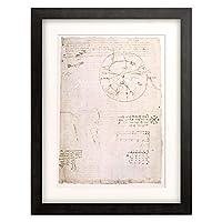 レオナルド・ダ・ヴィンチ Leonardo da Vinci 「Notizen zur Lautbildung der menschlichen Stimme.」 額装アート作品