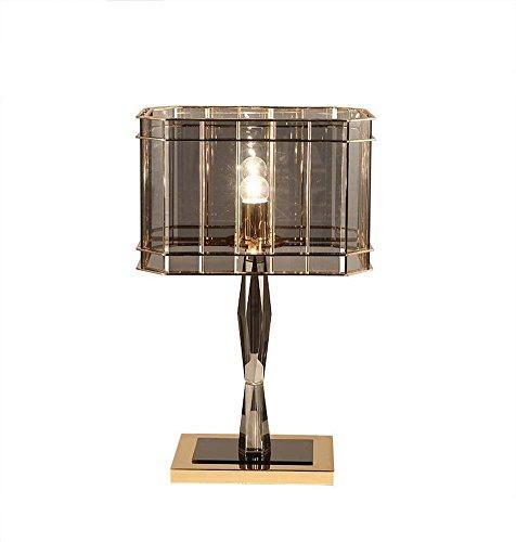 クリスタルガラステーブルランプ北欧人格シンプルなデスクランプ古典的なファッションテーブルライトベッドルーム/ベッドサイド/リビングルーム/スタジオ装飾テーブルランプE27、パールブラック