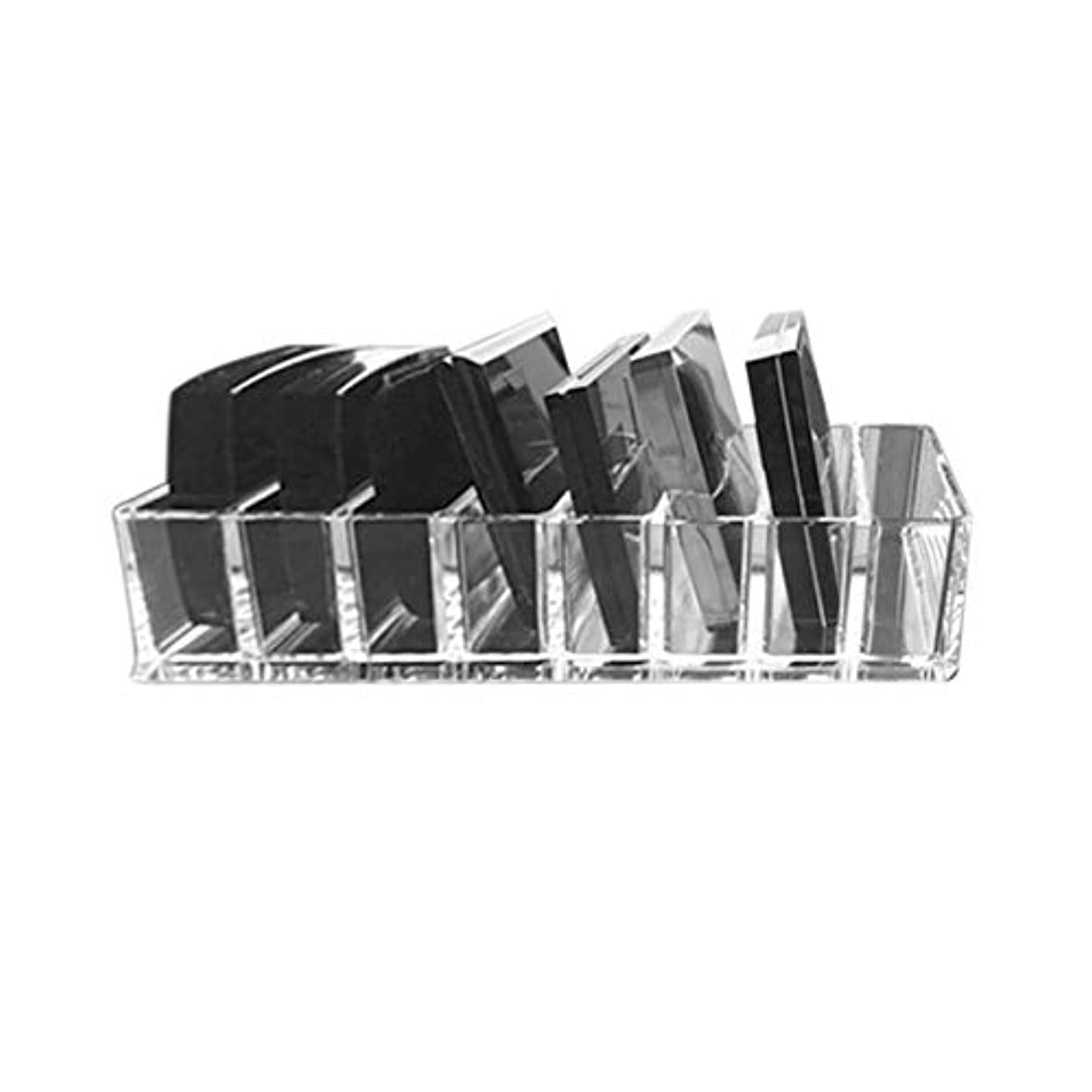 Saikogoods 実用的な透明アクリルメイクアレンジストレージボックスリップスティックホルダー透明なマルチスロットデスクトップ化粧品オーガナイザー トランスペアレント