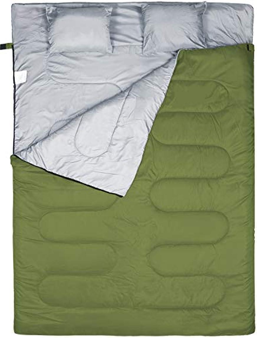 バックグラウンド訪問バラ色BESTEAM ダブル寝袋 バックパッキング ハイキング 家族 キャンプ 旅行 クイーンサイズ XL トラック テント スリーピングパッド 2人用 防水 寝袋 大人 ティーン 3シーズン!