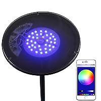 Brightech Kuler スカイカラー 調光フロアランプ 全方向式ヘッド 30ワット Bluetooth適合の省エネLED内蔵 iPhoneやiPadでコントロール可能 SKYRGBBK