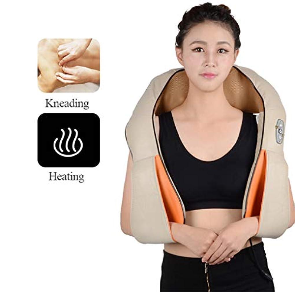 男性のためのギフトのための熱い - 指圧の首のマッサージャーが付いている首の肩の背中のマッサージャー女性のママのお父さん - 筋肉のための深い混練のマッサージ車のオフィスおよび家のリラックス