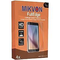 4 x Mikvon FullEdge Casio Exilim EX-FH25対応 画面保護フィルム(曲面ディスプレイまでしっかり保護)