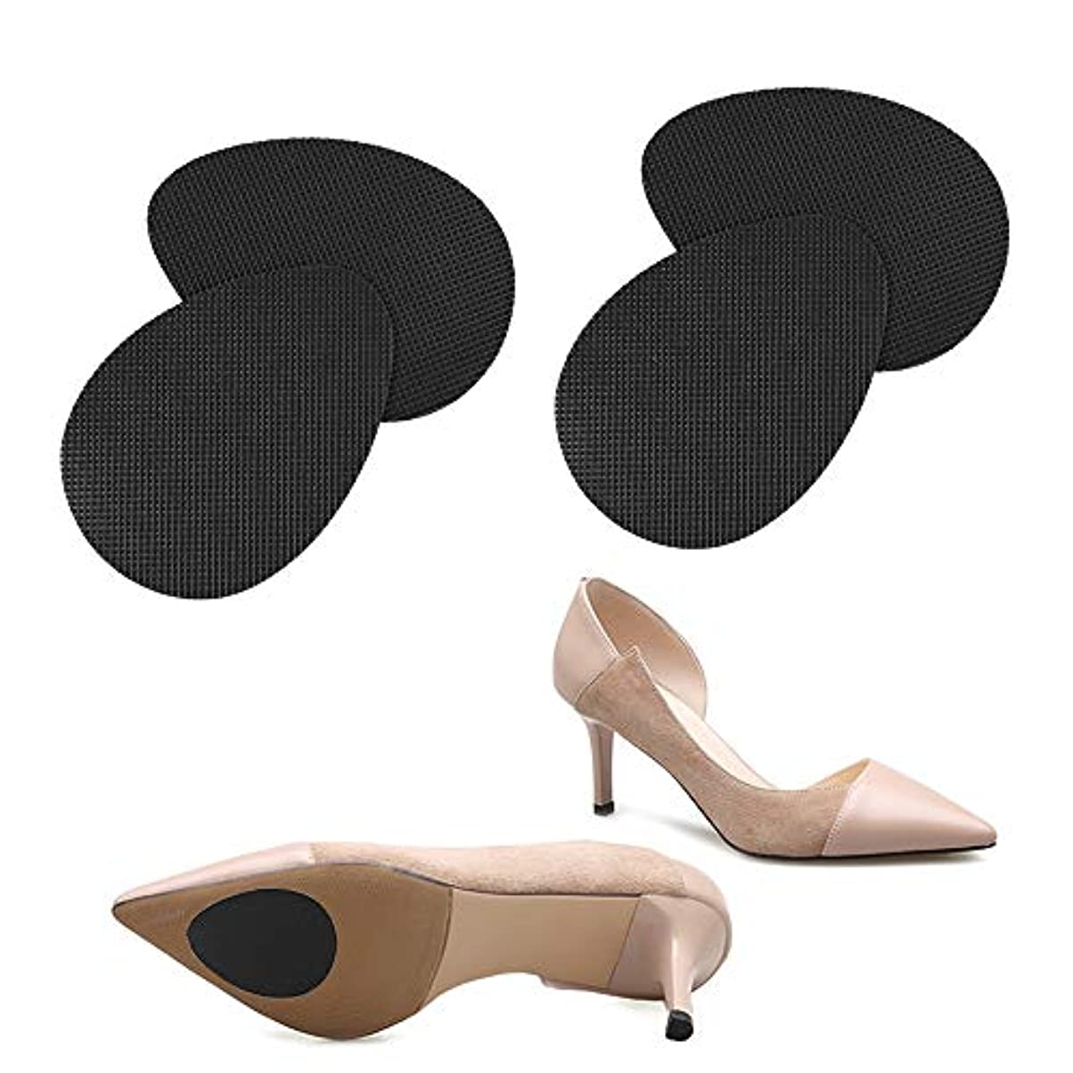 つま先実行する相談靴 滑り止め ステッカー,LINECY 【スリップガード】靴保護 シート つま先&かかと 靴底補修 滑り止め (2足4枚いり)