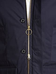 Padded Hunting Coat 1225-104-6426: Navy