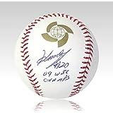 岩隈 久志 直筆 サイン + 追加インスクリプション入り WBC公式 ボール MLB公式ホログラム付き シードスターズ 証明書 メジャー時代