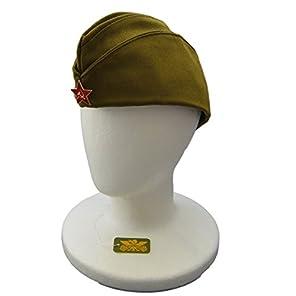 ソ連 軍 ロシア ピロトカ 帽子 レッドスター バッジ 付 ソビエト 赤軍 大きい 帽 装備 ウシャンカ キャップ ピロートカ L