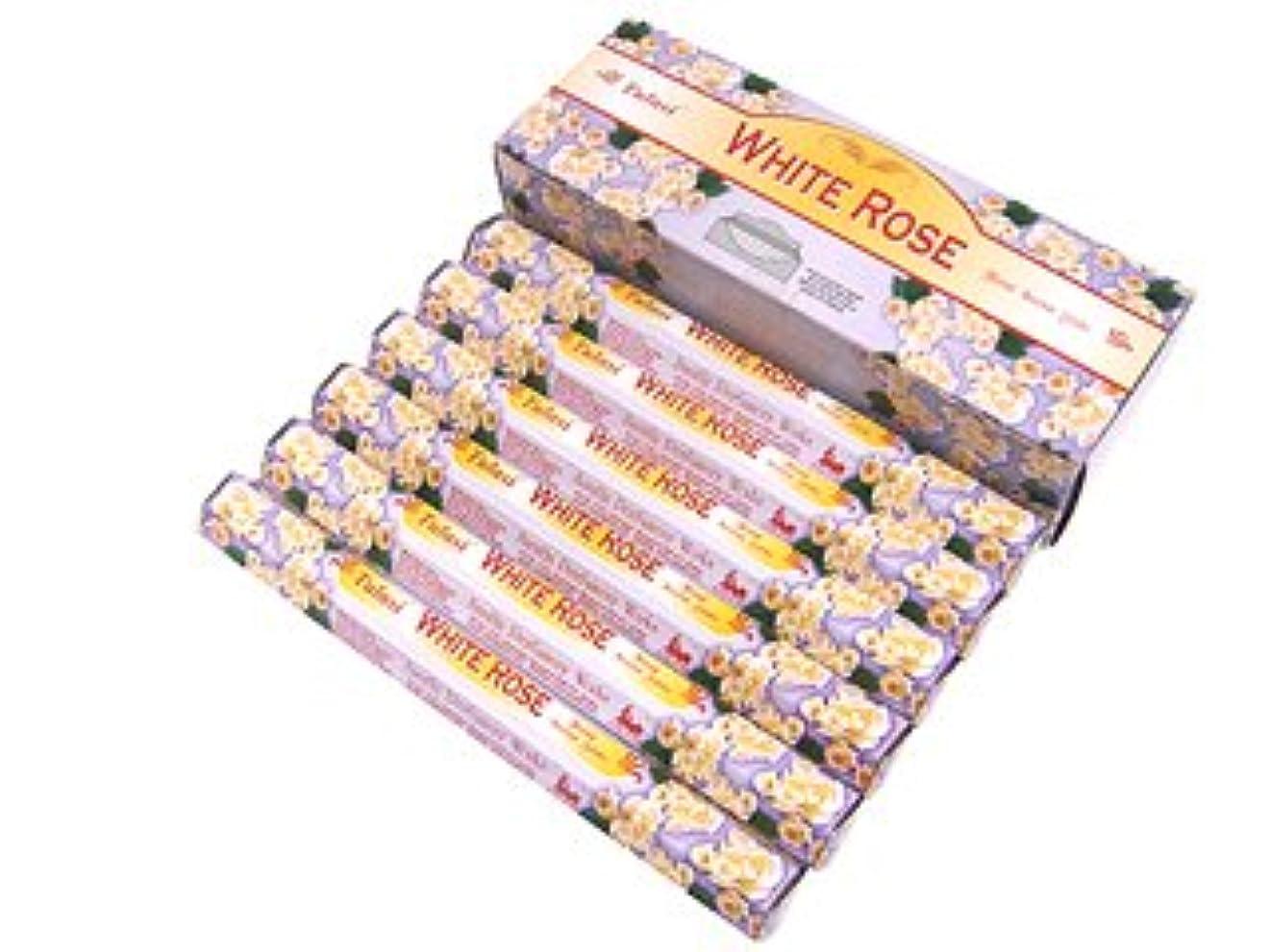 昼食突然の再びTULASI(トゥラシ) ホワイトローズ香 スティック WHITE ROSE 6箱セット