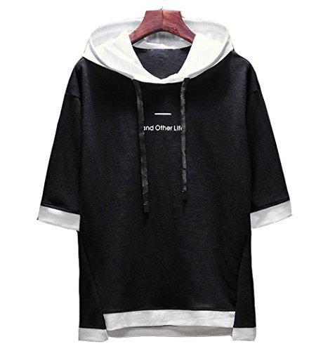 夏服 メンズ Tシャツ 5 分 袖 カットソー ゆったり おしゃれ 薄手 快適 涼しい カジュアル オールシーズン