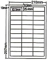 LDW33C-5 OAラベル ナナワード (63.5×25.4mm 33面付け A4判) 5梱(レーザー、インクジェットプリンタ用。上質紙ラベル)マルチタイプ