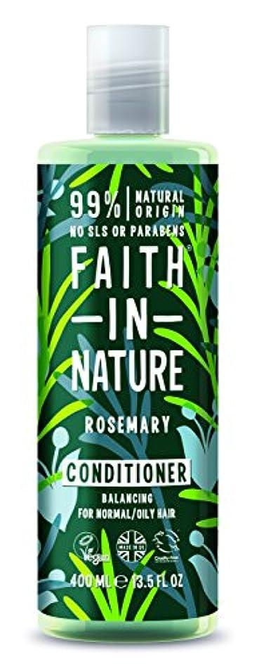パーク設計身元Faith In Nature Rosemary Conditioner For Normal To Oily Hair 400ml