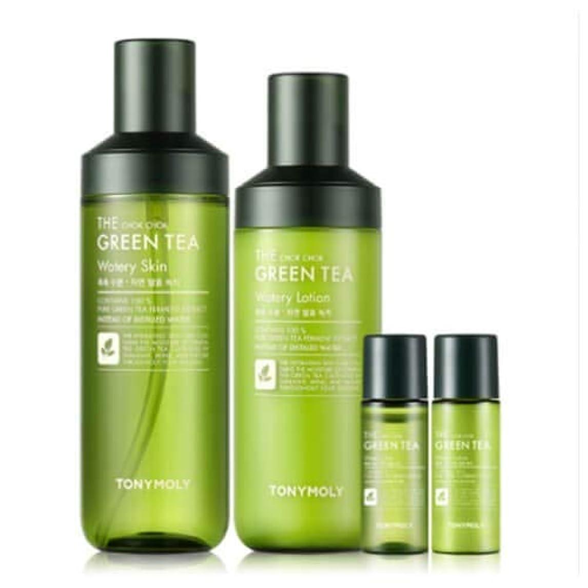 安いですキャリッジ素人TONYMOLY しっとり グリーン ティー 水分 化粧水 乳液 セット 抹茶 The Chok Chok Green Tea Watery Skin