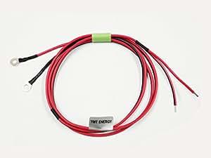 チャージコントローラー⇔バッテリー間 接続ケーブル 1.5m 1.25sq 丸型端子タイプ