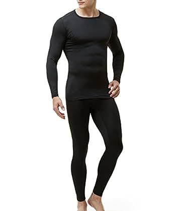 (テスラ)TESLA メンズ Heat Fit[吸湿発熱・保温] 冬用起毛 tesla テスラ インナーウェア上下セット MHS100-BLK_2XL