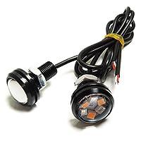 S660 LED デイライト スポットライト 防水 ボルト型 2色発光 ウインカー ポジション ブルー×アンバー 2個セット