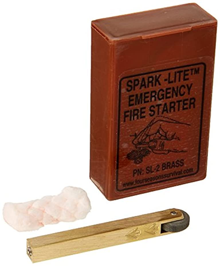 としてヒューマニスティック排泄するBrass Spark-Lite Aviation/Military Survival Firestarter Kit with 8 TinderQuik Tabs by Four Seasons