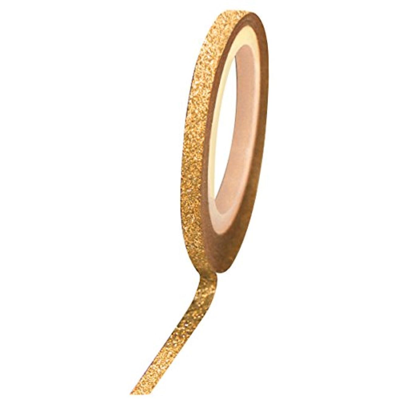 中で鳴らす可塑性Bonnail グリッターラインテープ 1mm ゴールドラメ