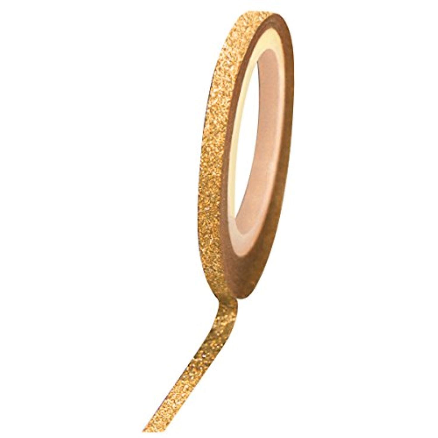 切断する凍った柔らかい足Bonnail グリッターラインテープ 2mm ゴールドラメ
