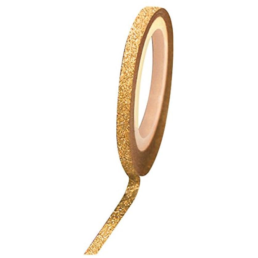 Bonnail グリッターラインテープ 1mm ゴールドラメ