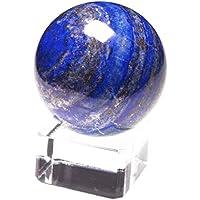 【Yippee】天然 ラピスラズリ 丸玉 水晶玉 クリスタルボール 直径 30~45mm/ ギフトガラス台座