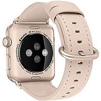 BRG コンパチブル apple watch バンド,本革 ビジネススタイル アップルウォッチバンド アップルウォッチ4 apple watch series4/3/2/1 レザー製(38mm/40mm,シャンパンゴールド)