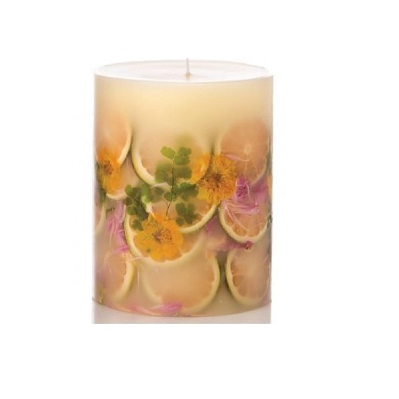 どっちひいきにする発揮するRosy Rings Lemon Blossom & Lycheeトールラウンド香りのキャンドル、5