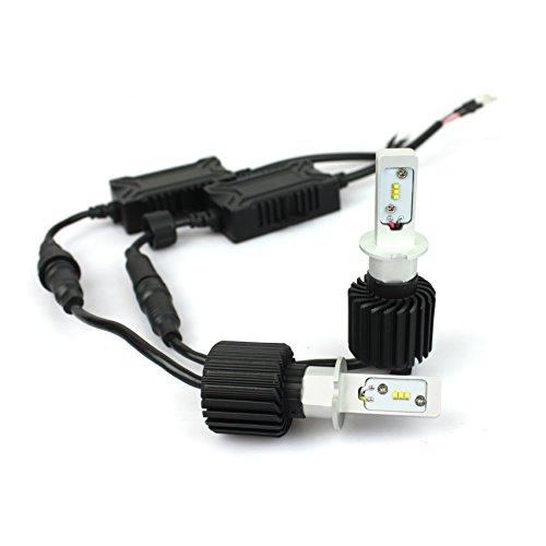 「SUPAREE」LED ヘッドライト H3 フォグランプ 車検対応 8000Lm 6500k 25W 12V/24V兼用 オールインワン ファンレス一体型 LED角度調整可能 高輝度 2個セット