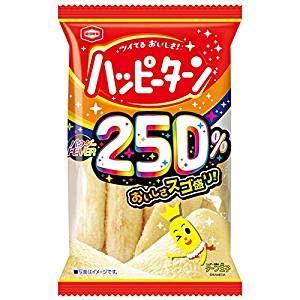 亀田製菓 パウダー250%ハッピーターン 1箱(10袋入)