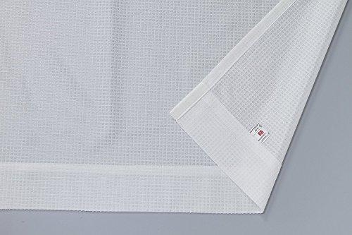 【オーダーカーテン】防炎・ミラーレース*トゥーンレース(アイボリー) 幅100×丈201cm 1枚