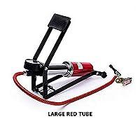 車用 エアーポンプ FidgetFidget 車のオートバイのフィートの空気ポンプ携帯用高圧滑り止めポンプ (大きな赤いチューブ)