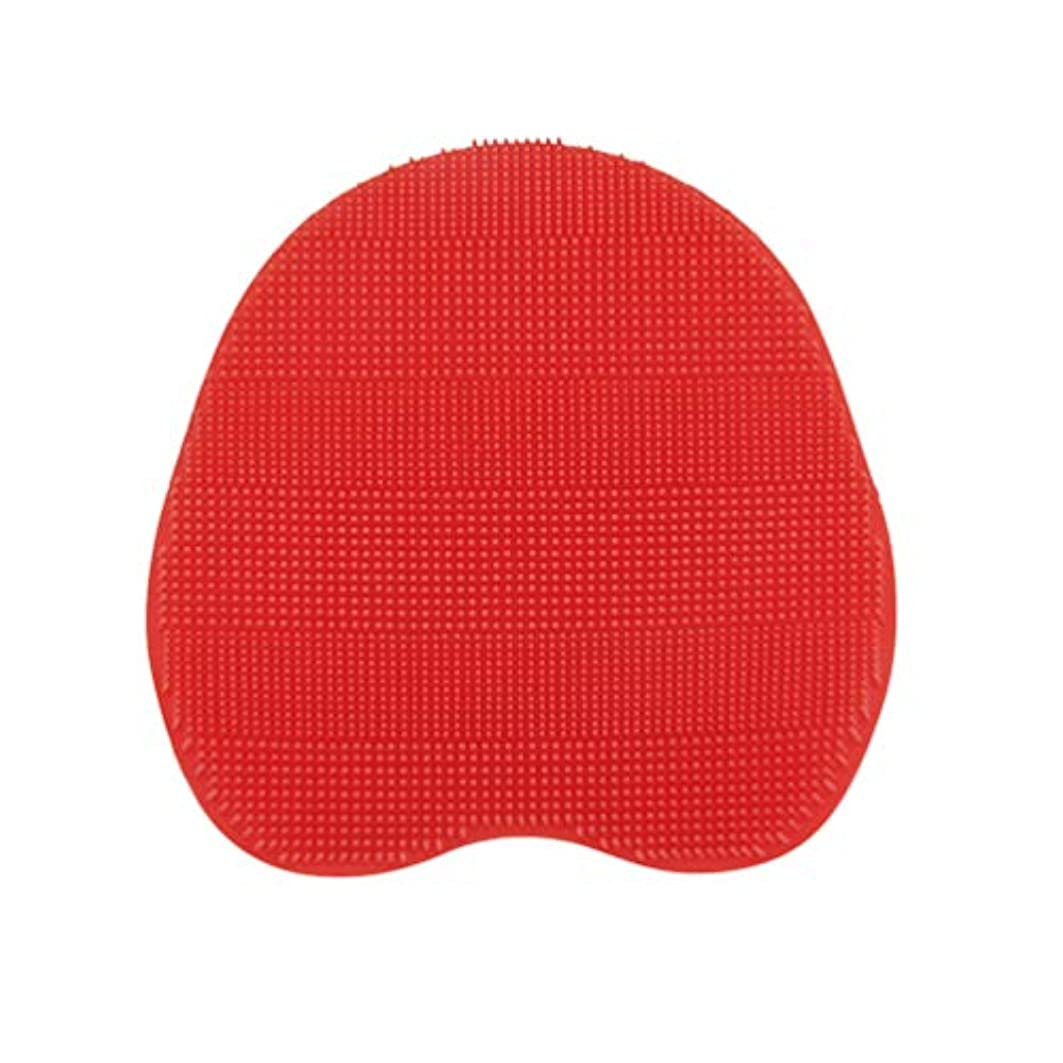 健全威する和解するSUPVOX 乾燥肌クレードルキャップおよび湿疹用のベビーバスシリコンブラシ(赤)