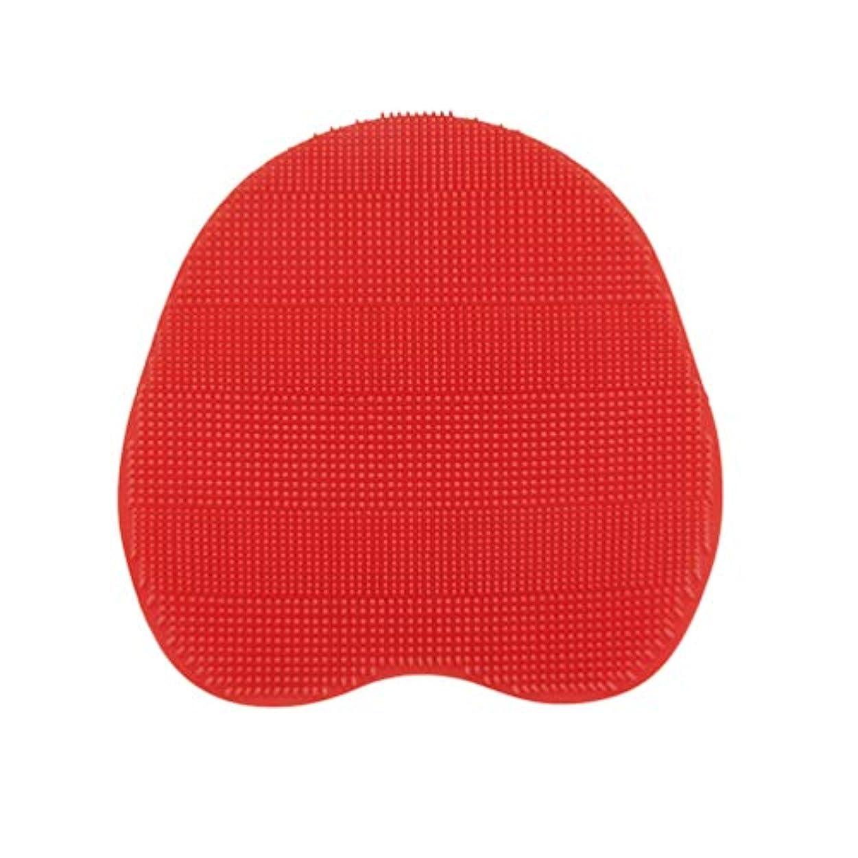 たっぷり朝ソブリケットSUPVOX 乾燥肌クレードルキャップおよび湿疹用のベビーバスシリコンブラシ(赤)