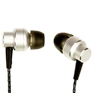 URBAN UTILITY イヤホン ハイレゾ対応 カナル型 ( マイク付き ) イヤフォン < 高音質 / ベリリウム 振動板 採用 > ケーブルバンド付き 1年保証 シルバー UEHE-EP1