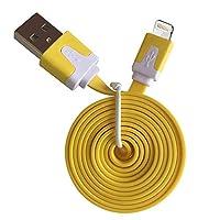 アップル製品対応 Lightning - USBケーブル バルク ORIGINAL Lightning - USB CABLE きしめんタイプ2M iPhone5/6/7/8/X/XS/XR/XSMAX 対応済 (イエロー)