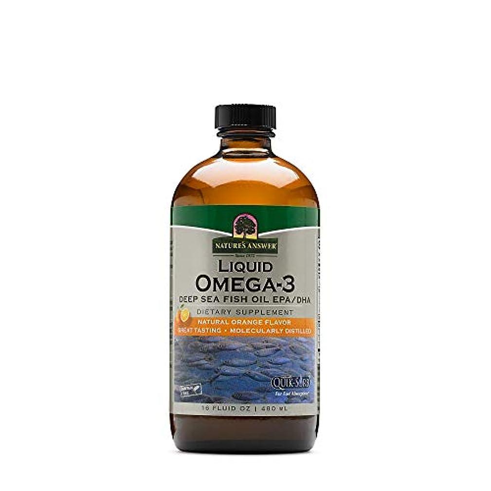 素朴なぼんやりした助言する海外直送品Nature's Answer Liquid Omega 3 Deep Sea Fish Oil Epa/dha, 16 Oz