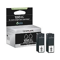 Lexmark No.100XL Twin Packs Ink Cartridges - Black