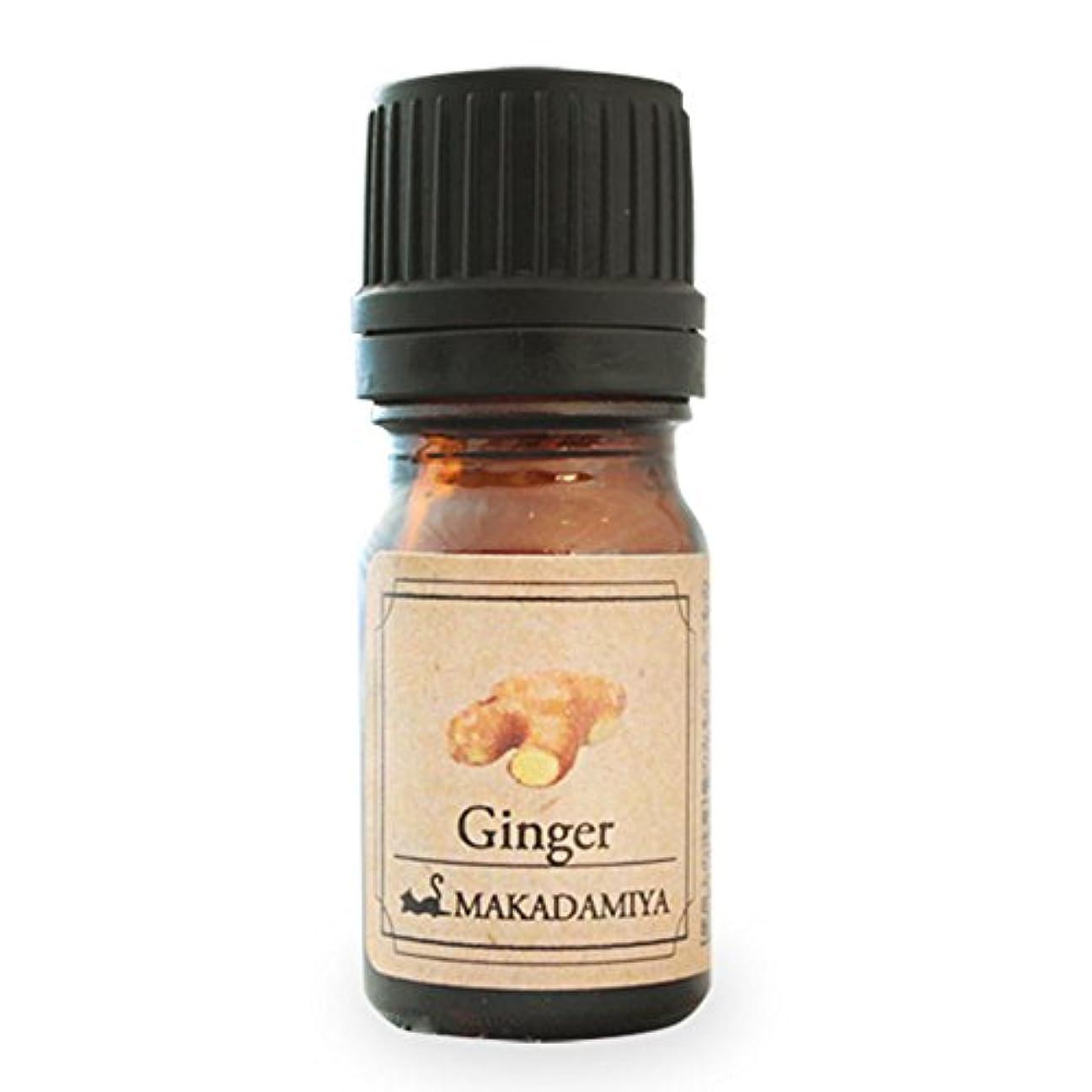 騒々しい動的作りますジンジャー5ml 天然100%植物性 エッセンシャルオイル(精油) アロマオイル アロママッサージ aroma Ginger