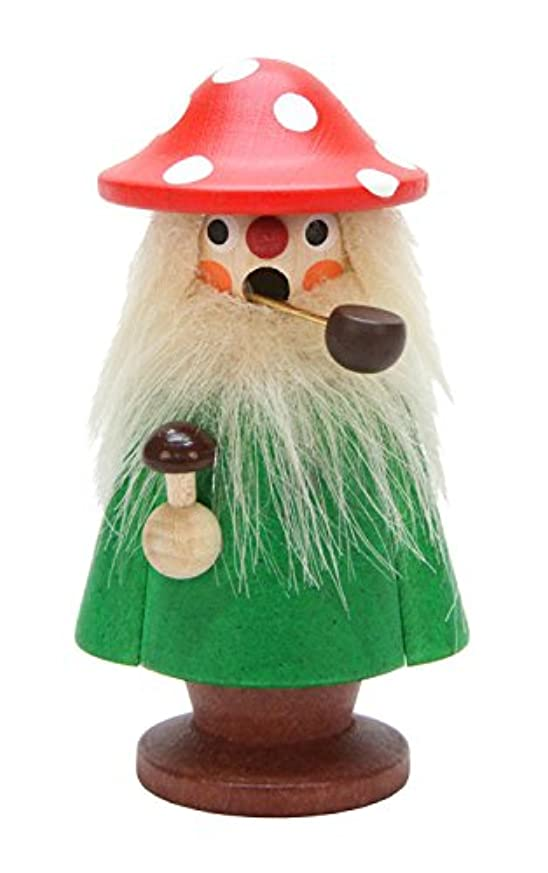 カーフ誰か資格情報Alexander Taron 35-182 Christian Ulbricht Incense Burner - Mushroom Man with Green Coat