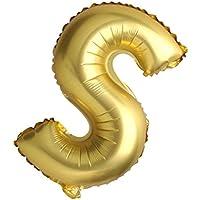 SONONIA アルミ 結婚式 パーティー 装飾 英字 アルファベット バルーン 風船 A-Z 40インチ 全2色26パターン選べる - ゴールド, S