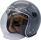 ダムトラックス(DAMMTRAX) バイクヘルメット ジェット フラッパージェット ファイナリー グロスグレイ レディースサイズ (56cm-57cm未満) one_size
