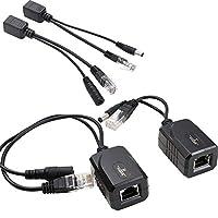 UHPPOTE イーサネット給電 POEスプリッタ 送信機+受信機 RJ45ネットワークケーブル用