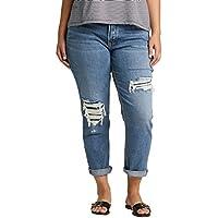 Silver Jeans Co. Womens Plus Size Mid-Rise Boyfriend Jeans Jeans - Blue