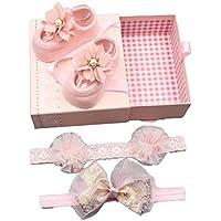 ヘアクリップ ベビー ヘアピン ヘアアクセサリー 3本セットと靴のソックスセット かわいい 可愛い 子供髪留め 髪飾り 出産祝い 内祝い 幼児ギフトボックス