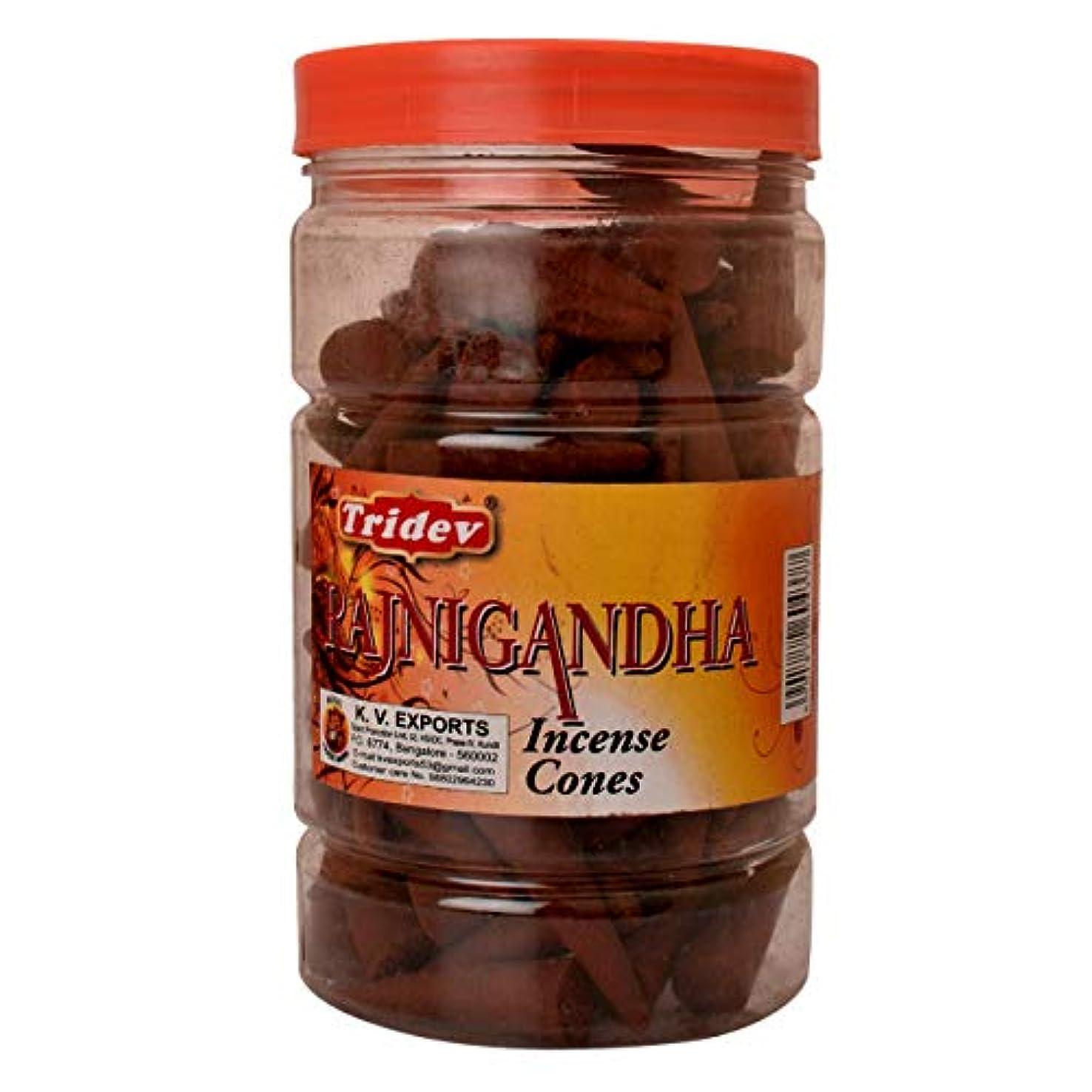柔らかい具体的に作物Tridev Rajnigandha フレグランス 円錐形お香瓶 1350グラムボックス | 6瓶 225グラム入りボックス | 輸出品質