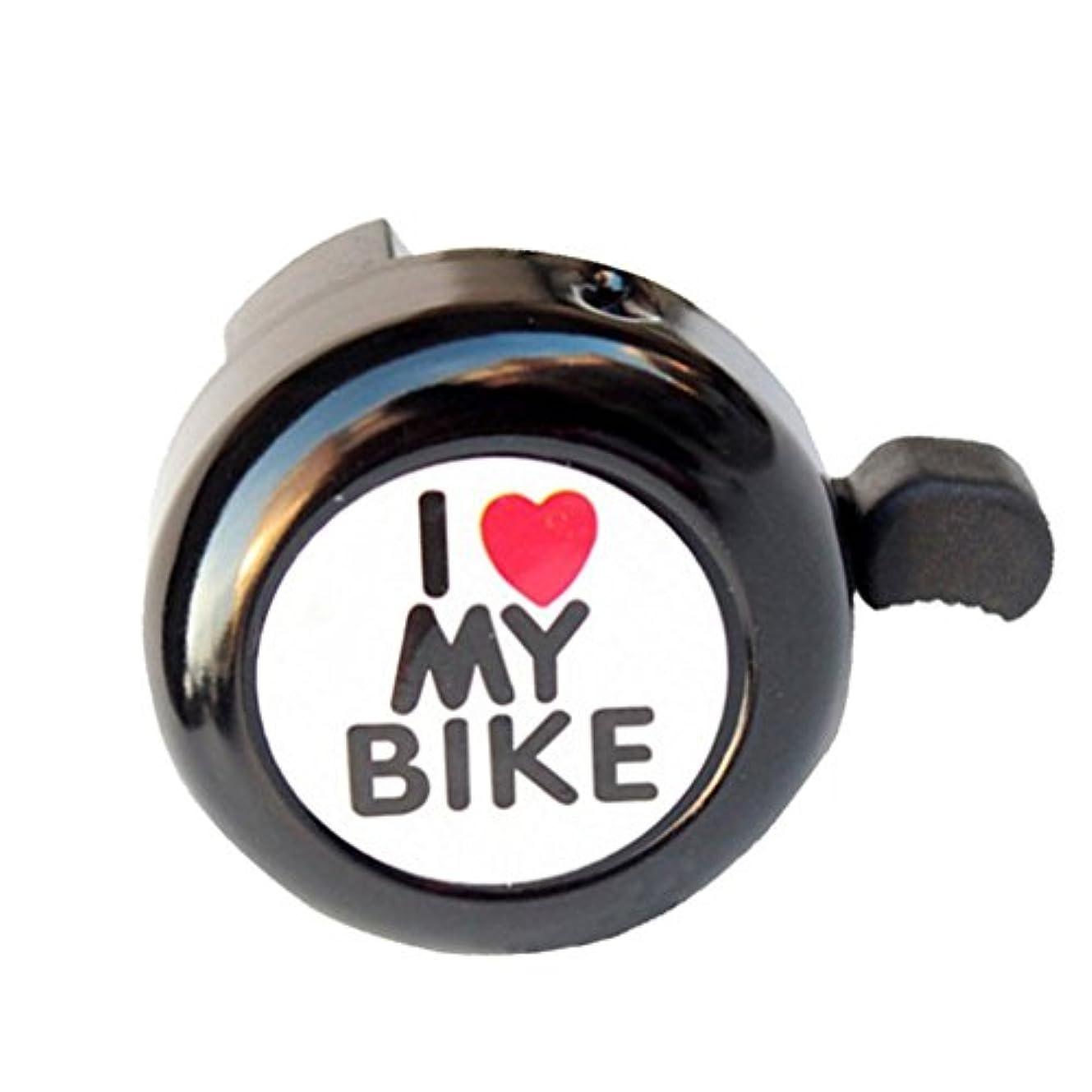 タップ偶然の確かめるquaanti便利自転車ベルハートアラームバイクメタルハンドルホーンProfessional自転車アクセサリーベルリング ブラック Quaanti