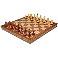 The Chess Store Yugoslavia Staunton Wood Chess Set in Rosewood & Boxwood Chess Pieces with Walnut Folding Chess Case - 3.25 King by The Chess Store [並行輸入品]