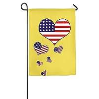 装飾独立記念日アメリカ季節のポーチヤードハウスガーデンフラグ全天候型ポリエステルEmblemize 12×18インチ